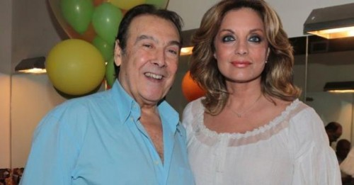 Η κ. Αντζελα Γκερέκου με το συζυγό της Τόλη Βοσκόπουλο